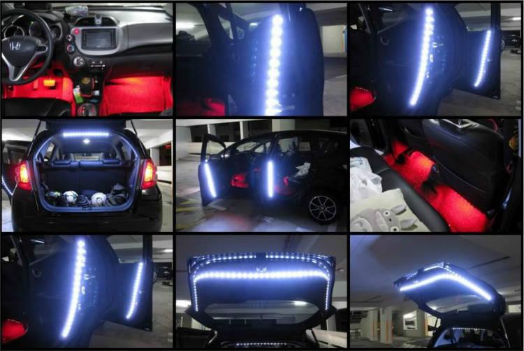 Подсветка авто из светодиодной ленты своими руками